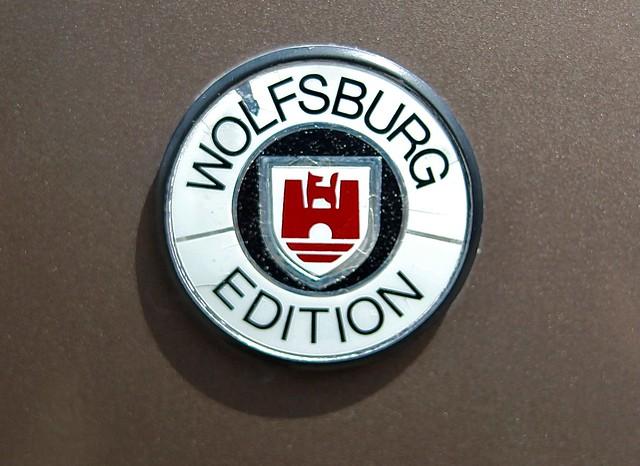 Volkswagen Wolfsburg emblem with a castle and wolf logo