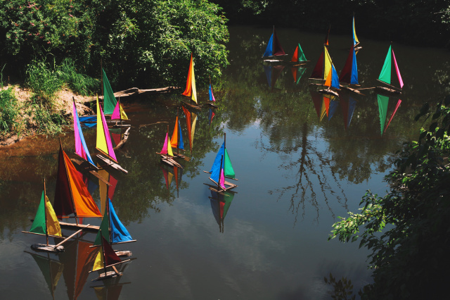 OCF photo: boats on the creek