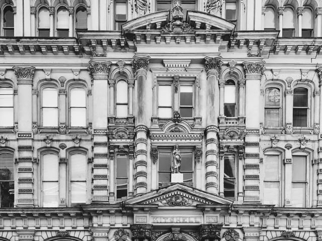 Detail of baroque Milwaukee bilding