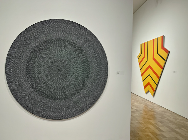 Circular art on museum wall