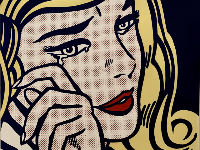 Closeup of Lichtenstein's Crying Girl