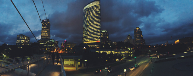 Milwaukee skyline at night