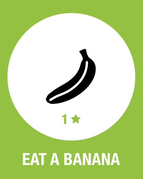 screenshot from the Streaks app that shows a banana icon with the words 'Eat A Banana'